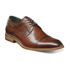 Stacy Adams Mens shoes Dickinson Cap Toe Oxford classic cognac Leather 25066-221