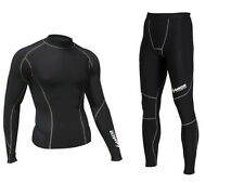 Zimco Winter Compression Jersey & Tight Thermal Under Top Shirts Skins Pants B/G
