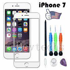 Front Outer Touch Screen Glass Lens Replacement/ Tools for Apple iPhone 7 White
