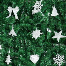 10 Glitter Snowflake Reindeer Christmas Tree Hanging Pendant Decorations