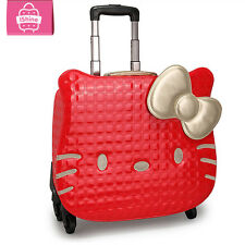 Hello Kitty Rolling Suitcase Luggage Trolley ABS Bag Women Girls Carry travel