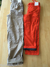 NWT Gymboree Boys Pull on Fleece lined Athletic Pants 5,6,10,12 orange khakis