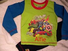 Personalised Marvel Avengers pyjamas age 18 months - 4 years with a name