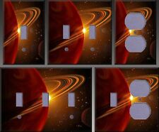 Giant Red Planet Wall Decor Light Switch Plate Cover