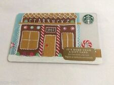 STARBUCKS Gift Card GINGERBREAD HOUSE - 2016 No Value