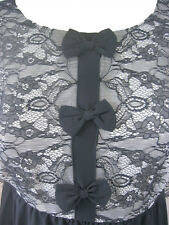 Darling Cream Black Jasmine Tunic Dress S-XL UK 10-16 RRP �55 Lace Bow Sheer