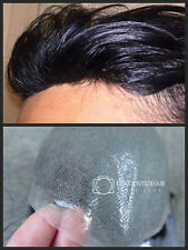 Mens Toupee Thin Skin Hair Replacement System Hair Piece Undetectable Hairline