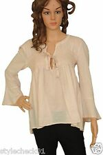 Odd Molly Womens Remix #M314-261 Smocked Embroidered Cotton Blouse Tunic Top M 2
