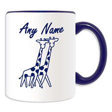 Personalised Gift Simple Drawing Giraffe Mug Money Box Cup Animal Design Tall