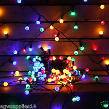70 LED MAINS MULTI COLOURED BERRY STRING CHRISTMAS LIGHTS   GARDEN INDOOR OR OUT