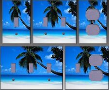 Palm Tree On A Beach Wall Decor Light Switch Plate Cover