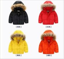 Kids Baby Boys Outerwear Warm Winter Hooded Zipper Coat Jacket