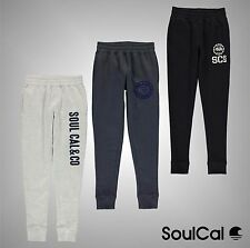 Junior Boys SoulCal Jersey Brushed Fleece Lined Joggers Sweatpants Size Age 7-13