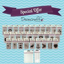 Dovecraft Small Cling Unmounted Rubber Clear Acrylic Polymer Stamp Print 3 FOR 2