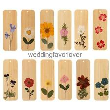 Novelty Bamboo Wooden Pressed Dry Flower Bookmark Wedding Birthday Party Favor