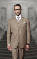 BRAND NEW BRONZE MENS 3PC 2 BUTTON SUIT,VESTED & PLEATED PANTS