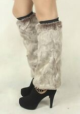 Ladies Winter Warm Faux Fur Boot Shoes Cuffs Cover Toppers Socks Leg Warmers New