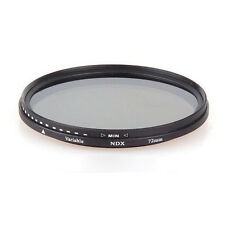 52mm-77mm Variable Neutral Density ND Lens Filter Fader ND2 ND8 ND16 to ND400