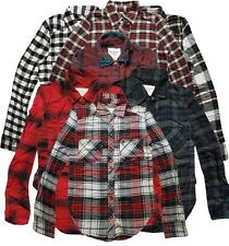 Abercrombie & Fitch Womens Plaid Check Flannel Button Shirt XXS XS S