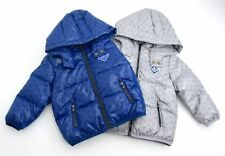 ARMANI BABY BOY JUNIOR BOMBER PADDED JACKET BLUE OR GREY CODE ZDL02