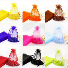 New 50Pcs Sheer Organza Wedding Party Favor Gift Candy Bag Pouch 12x9cm