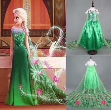 Frozen Elsa Dress Princess Dress Costume Fever Inspired Green