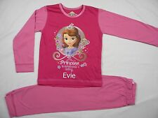 Personalised Princess Sophia pyjamas age 1 - 4 years embroidered with a name