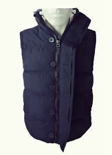 New Mens Padded Sleeveless Gilet Coat Lined Quilted Body Warmer Hooded Jacket