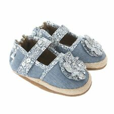 NIB ROBEEZ Shoes Jourdan Espadrille Denim Blue Floral 2 3 4 5 6