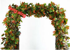 New artificial ivy grape leaves vine plant wreath fake garden wedding party deco