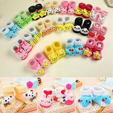 Baby Anti Slip Socks Boots Shoes Cartoon Animal 0-12 Months Newborn Deft