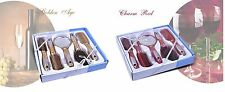 5 Pcs Hair Styling Salon Professional Brush Comb Gift Set Kit Mirror Red Gold UK
