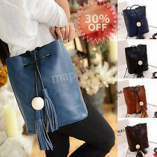 Women Tassel Handbag Leather Satchel Shoulder Tote Messenger Crossbody Hobo Bags