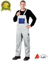 Painters Work Trousers Bib and Brace Dungarees Overalls White Style