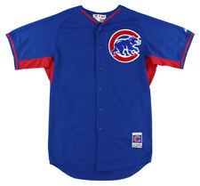 Majestic Mens Chicago Cubs MLB Starlin Castro Batting Practice Jersey Royal Blue