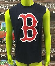 """Boston Red Sox Majestic MLB """"Beurg"""" Muscle Tee/Singlet (Navy)"""