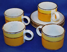 Stonehenge Midwinter Sun Four Flat Cups and Saucers (1973-1986)