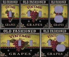 Vintage Grapes Wall Decor Light Switch Plate Cover