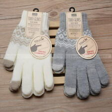 Touch Screen Gloves Women Girl Stretch Knit Mittens Winter Warm Gloves 1Pair