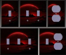 Red Distant Landscape Wall Decor Light Switch Plate Cover