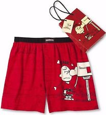 Peanuts Snoopy Mens Red Boxers Shorts for Valentines Day