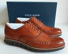 New Cole Haan Zerogrand Wing Oxford Men's Shoe Size 10.5 British Tan/Java