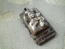 Vintage CREED STERLING Virgin Mary Our Lady of Czestochowa Medal Religious Charm