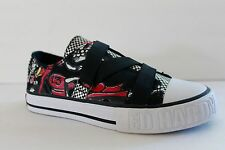 Ed Hardy Kid Size 13 / 2 / 3 / 5 M Black Red Athletic Canvas Sneaker Shoe Medium