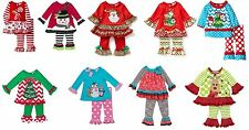 Rare Editions Girls 6-24 Months Christmas 2-pc Legging Outfit Set BNWT