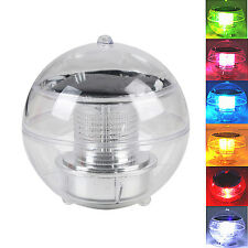 LED Solar Floating Light Waterproof Color Change Pool Tree Hang Garden Ball Lamp