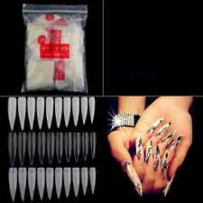 500pcs Clear Natural White French Acrylic Nail Art Tips UV Gel False Nails DIY