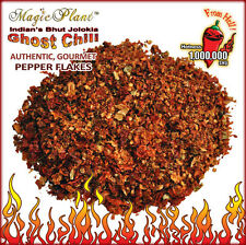 Ghost Pepper Flakes / Bhut Jolokia Crushed Pepper Smoked - (6 size variations)