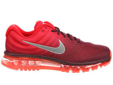 NEW MENS NIKE AIR MAX 2017 RUNNING SHOES TRAINERS MAROON / WHITE / GYM RED