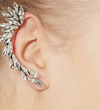 1pcs Right Ear Clip Fashion Feather Design Rhinestone  Earcuff Earring UK Seller